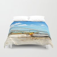 boats Duvet Covers featuring boats by Baptiste Riethmann