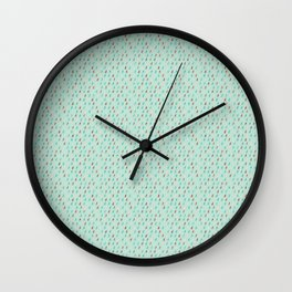 Raindrop Confetti Wall Clock