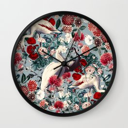 FLORAL AND BIRDS XIV Wall Clock