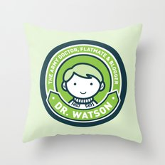 Cute John Watson - Green Throw Pillow