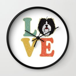 Love Havanese Dog Lover Dog Owner Gift Wall Clock