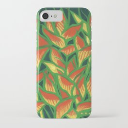 Lobster Claw / Heliconia Rostrata, tropic flowers, green, yellow & orange iPhone Case