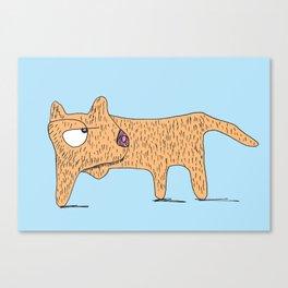 Perro Cojo / Lame Dog - blue and orange Canvas Print