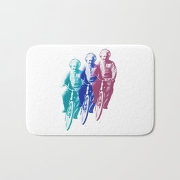 Albert Einstein by bike Bath Mat