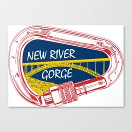 New River Gorge Climbing Carabiner Canvas Print