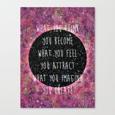 Law of Attraction Canvas Print