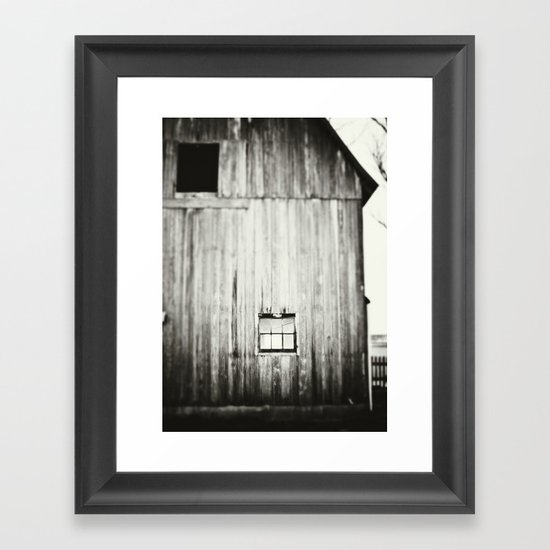 Barn Black & White Framed Art Print