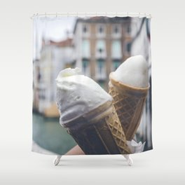 Love and ice cream Shower Curtain
