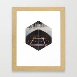 Peace of Mind Boat - Geometric Photography Framed Art Print