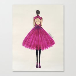 Pink Tulle Canvas Print