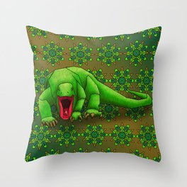 Komodo Dragon Throw Pillow