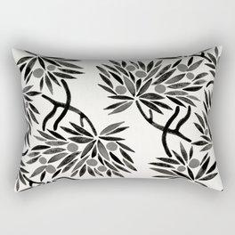 Bonsai Fruit Tree – Black Palette Rectangular Pillow