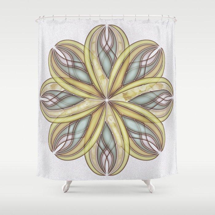 GS Geometric Abstrac 08A1V Shower Curtain