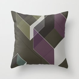 Muted RGB by Friztin Throw Pillow