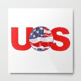 USA Soccer Metal Print