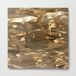 Golden Foil Metal Print