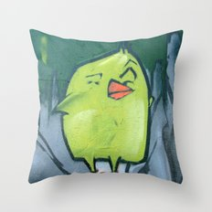 yellow bird Throw Pillow