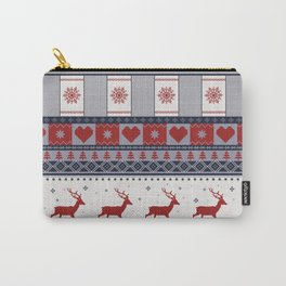 Scandinavian Christmas Pattern Carry-All Pouch
