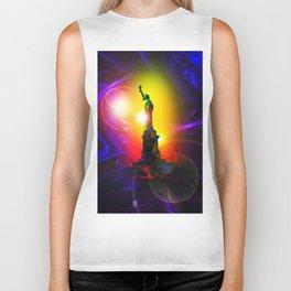 Statue of Liberty  New York 2 Biker Tank