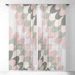 Dahlia at Office Sheer Curtain