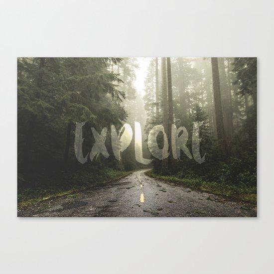 EXPLORE Wanderlust Road Trip Canvas Print