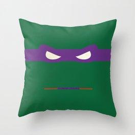 Purple Ninja Turtles Donatello Throw Pillow