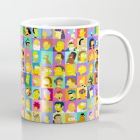simpsons Mugs featuring Simpsons by thev clothing