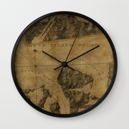Map Of Oyster Bay 1778 Wall Clock