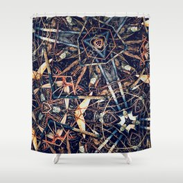 Patterned Pine No:1 Shower Curtain