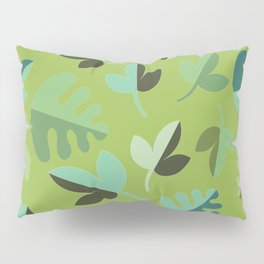 Shades of Green Leaves Pillow Sham