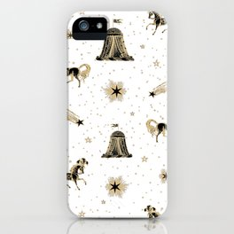 Magic Land Circus - White and Gold iPhone Case