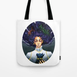 Meditation with Cat Tote Bag