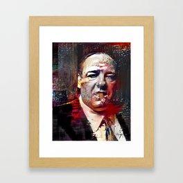 Tony Soprano Glitch Framed Art Print