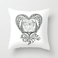 wedding Throw Pillows featuring Wedding by Jo Falcon-Cross