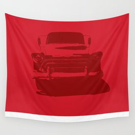 CHEVY PICKUP IN MONOCHROMATIC RED Wall Tapestry