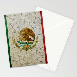 Cracked Mexico flag Stationery Cards