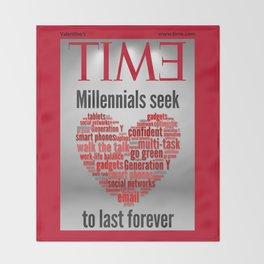 millennials seek love to last forever Throw Blanket