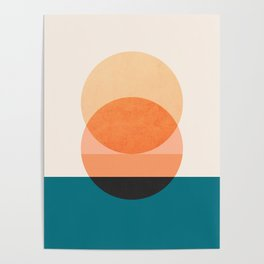 Abstraction_NEW_SUNSET_OCEAN_WAVE_POP_ART_Minimalism_0022D Poster