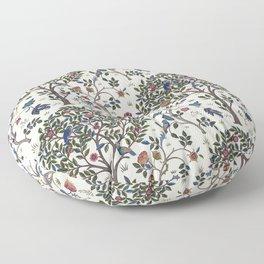 William Morris Trees and Bluebirds  Floor Pillow