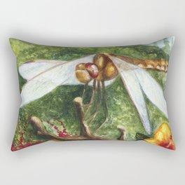 Amber Dragonfly Rectangular Pillow