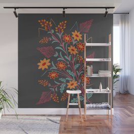 Flora and Fern Folly Wall Mural