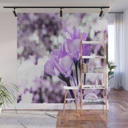 Ultraviolet Lavender Flowers Wall Mural