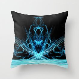 Witch of the Waters - Abstract Art Throw Pillow