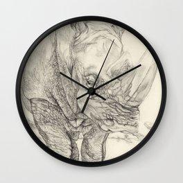 mask of the rhino Wall Clock