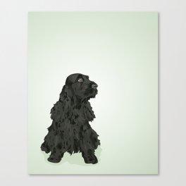 Black English Cocker Spaniel Canvas Print
