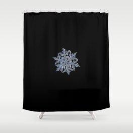 Real snowflake 13 February 2017 n.3 black Shower Curtain