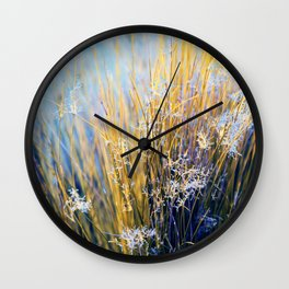 The Blue-Purple Haze in San Francisco, The Japanese Tea Garden, by Karen Images Wall Clock