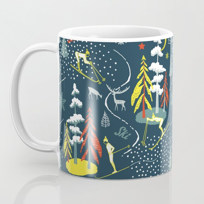 Retro Skiing  Coffee Mug