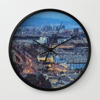 barcelona Wall Clocks featuring Barcelona by AnnaGo
