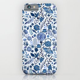 Chinoiserie Tea in the Garden iPhone Case